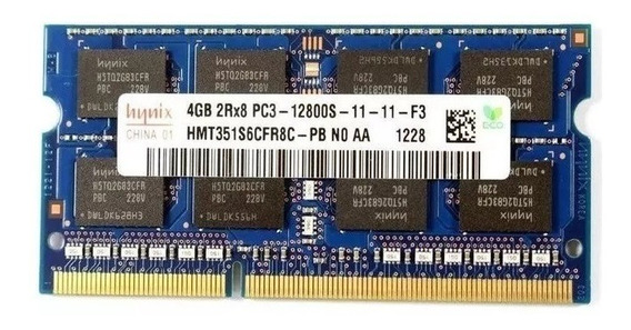 Memoria P/ Notebook 4gb Ddr3 1600mhz Pc3-12800s Hynix Oferta