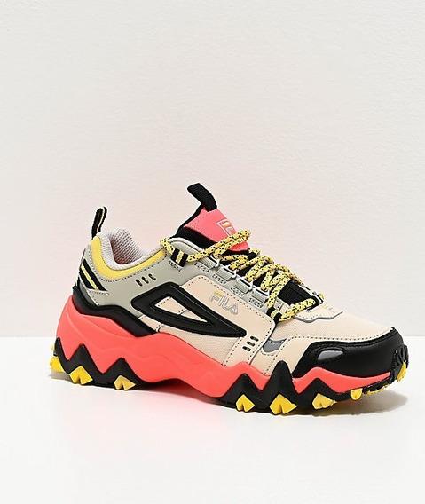 Tenis Fila Oakmont Trail Coral & Black Shoes Comodos Unisex