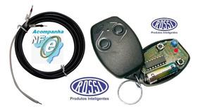 Controle Remoto + Antena Aumentar Alcance Motor Rossi 433mhz
