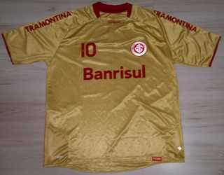 Camisa 3 Do Internacional 2009 Dourada #10 Reebok 100 Anos