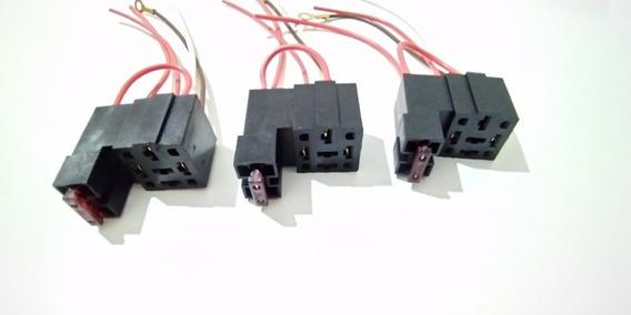 3 Suporte Base Universal Relé Auxiliar 4 E 5 Pinos + Fusível