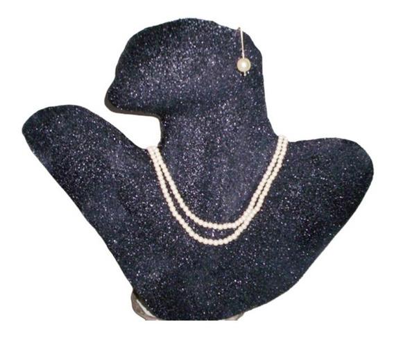Expositor Borboleta Bijuteria Busto Brinco Colar Vitrine Joia Prata Ouro Zircônia Fornitura Manequim Feminino W
