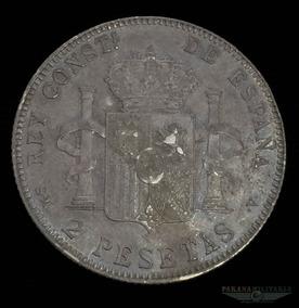 Moeda Prata 835 10gr 27mm Espanha Rei Alfonso Xiii