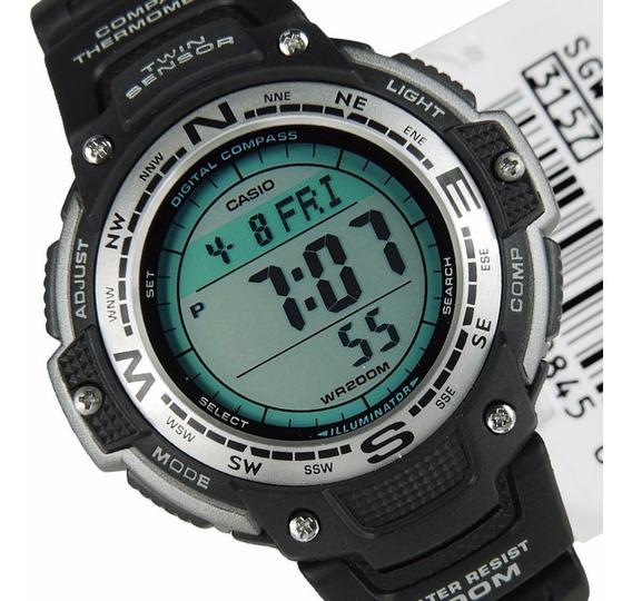 Relógio Casio Outgear Sgw-100 Bússola Digital Termômetro Pt