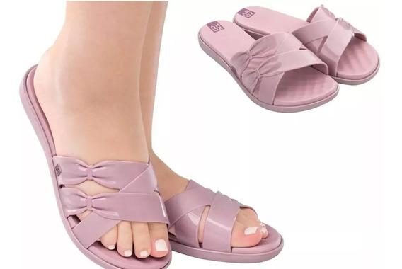 Chinelo Rasteira Feminino Zaxy Charm Original Slide Sandália Super Confortável Envio Em Caixa Original C Nota