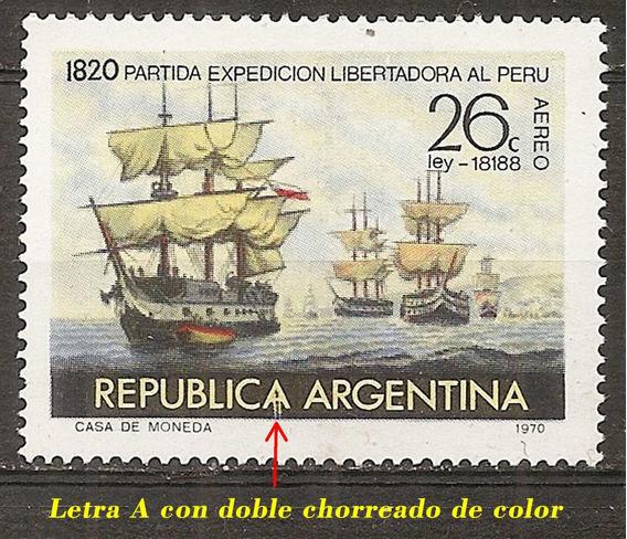 Argentina Gj 1520 Variedad Ae 133 Añ 1970 Exp Libert Al Perú