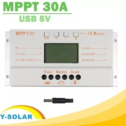 Controlador Carga Solar 30a Mppt Usb 12v 24v