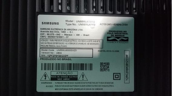 Tv Samsung 55 Tela Curva Un55mu6300g Tela Danificada