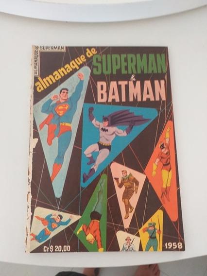 Almanaque Super Man E Batman 1958 (frete Gratis)