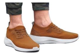 Tenis Sneaker Cklass Caballero Textil Mostaza 60649 Dtt