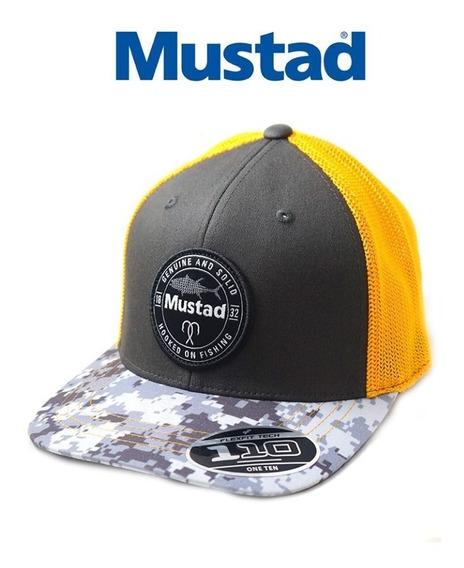 Gorra Mustad - Mod. Grey/fire