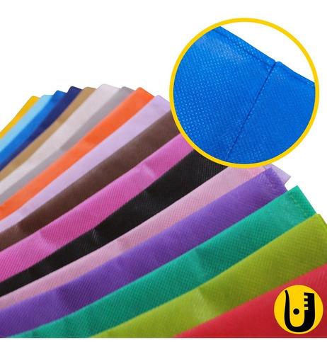 Imagem 1 de 2 de Kit 100 Sacos Tnt 25x35 + 100 Sacos Presente Tnt 35x45