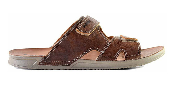 Sandalia Zapato Cuero Freeway Hombre Abrojo - Hcch00922