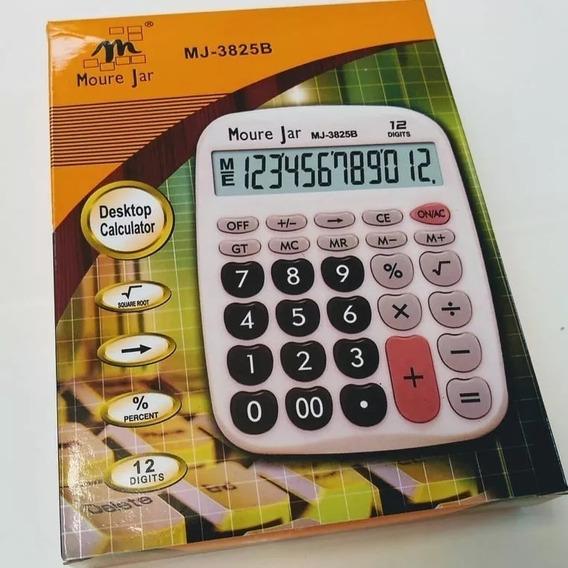 Super Calculadora De Mesa Balcão Escritório C 12 Dig.