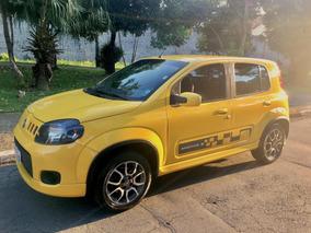 Uno Sporting 1.4 Flex Amarelo Completo Top Bx Km Ar Direcao