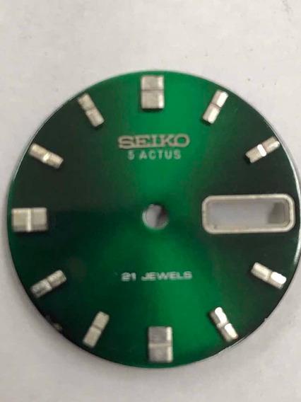 Mostrador Relógio Seiko 5 Actus Verde - Perfeito