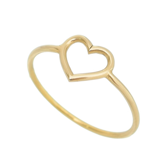 Anel Coração Pequeno Em Ouro Artllure
