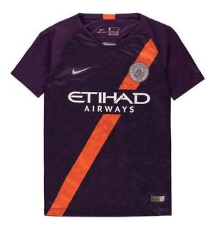 Camisa Manchester City Purple Orange 18-19 ( Pronta Entrega