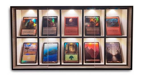 Expositor Colecionaveis Rpg Cards Iluminado 10 Nichos Easy