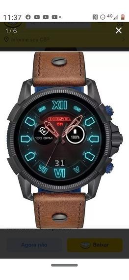 Relógio Smartwach Diesel On Masculino Couro Dzt2009/0mim