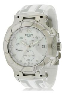 Reloj Mujer Tissot T-race Blanco Diamantes T0484171711600
