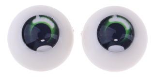 8 Piezas Accesorios Acr/ílicos Mu/ñecas Ojos Media Ca/ña Hueca Dollfie 20mm