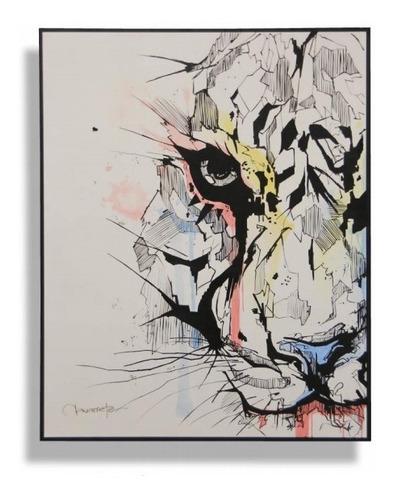 Imagen 1 de 4 de Cuadro Decorativo Tigre Këssa Muebles