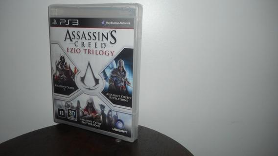 Assassin´s Creed Ezio Trilogy Ps3 Mídia Física Novo Lacrado