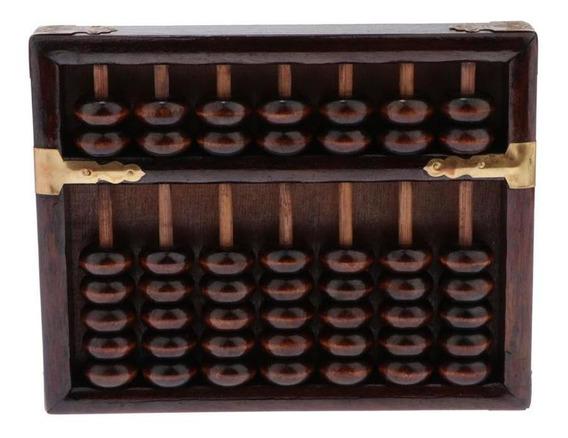 Abacus Padrão De Madeira (8,66 In) - Calculadora Soroban Pro