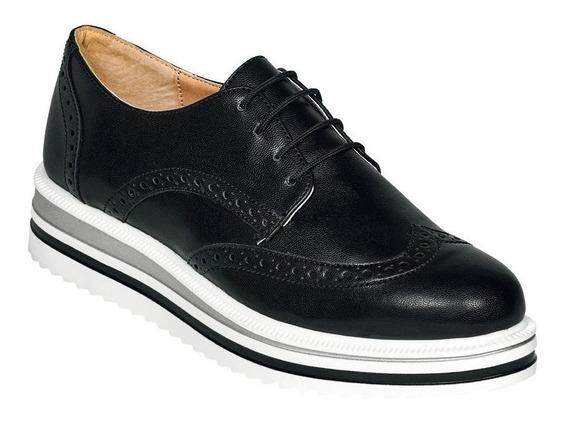 Calzado Zapato Dama Mujer Bostoniano Plataforma Casual Moda