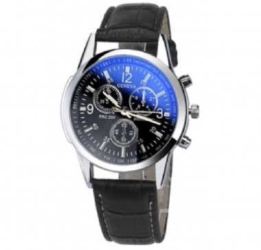 Relógio Elegante Moda De Luxo Faux Couro Geneva