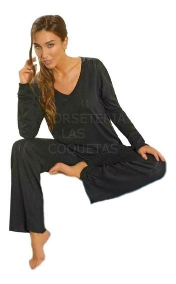 Pijama Liso De Mujer Desagujado Lencatex Art 20338
