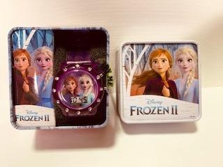 Relógio Infantil Frozen 2 Elsa E Ana Digital Piscante