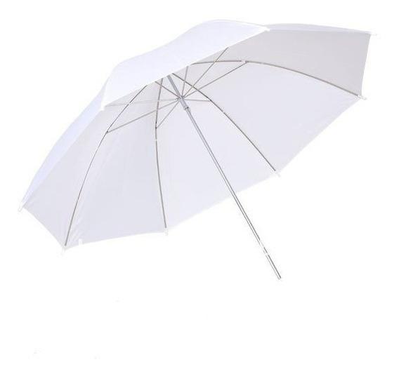 Sombrinha Difusora Suavizadora Translúcida Branca 83cm