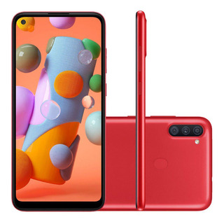 Smartphone Samsung Galaxy A11 64gb Câmera Tripla Vermelho