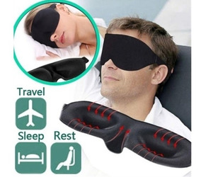 50 Máscara Dormir 3d Venda Tapa Olhos Durma Bem Viagem Sono