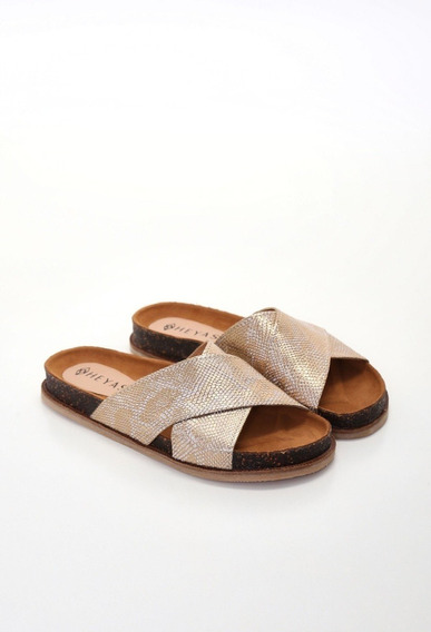 Zapatos Sandalias Chatitas Bajas Cuero Mujer Haren Heyas