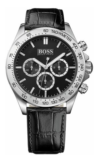 Relógio Hugo Boss Masculino Ikon Couro Cronógrafo -1513178