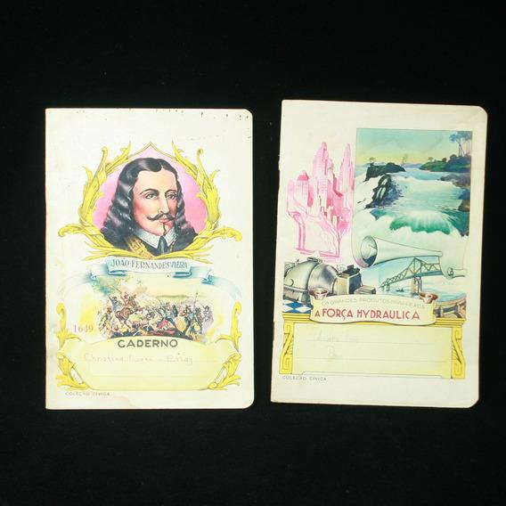 2 Cadernos Com Temas Cívicos Da Década De 1970