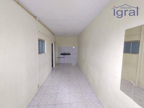 Imagem 1 de 7 de Kitnete Com Banheiro E Área De Serviço. - Kn0067
