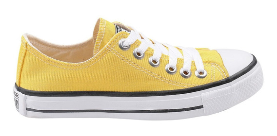 Tênis Converse All Star Core Ox Cano Baixo Infantil Amarelo