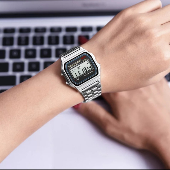 Relógio Feminino Tendência 2019 2020 Retrô Vintage Digital