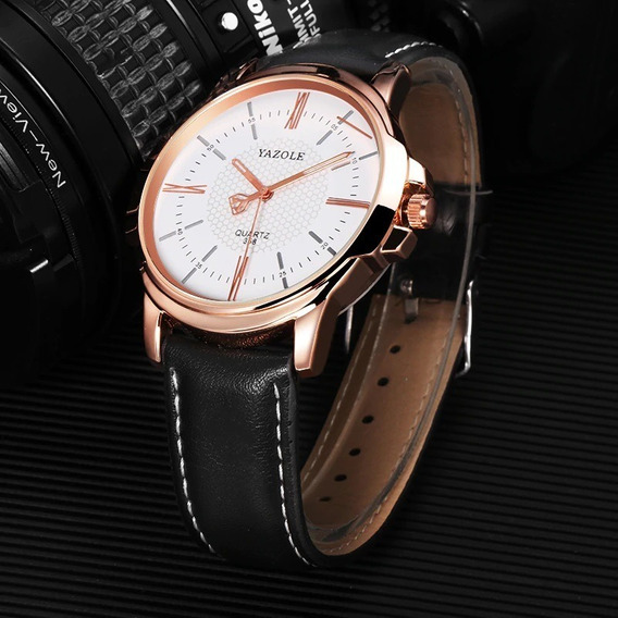 Relógio Masculino Executivo Luxo Yazole Promoção Barato Top