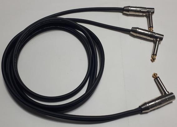 Cabo P10 Splitter Em Y 1 P10 Mono 90° P/ 2 P10 Mono 90°