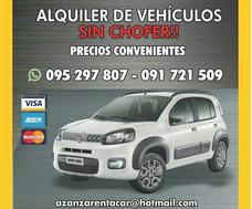 Alquilo Autos Tel: 091 721 509, 093 616 319, 095 297 807.