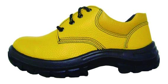 Zapato De Cuero Punta Y Plantilla Acero Worksafe Obra Mf
