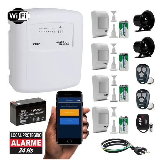 Alarme Wifi Discadora Ecp Wireless 4 Sensores Infra Sem Fio