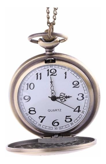 Relógio De Bolso Cor Bronze Quartz 6.0cm, Vintage Maçonaria