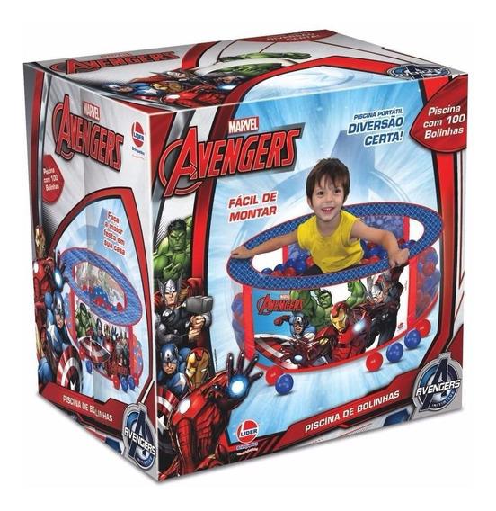Piscina De Bolinhas The Avengers Marvel 100 Bolinhas Lider