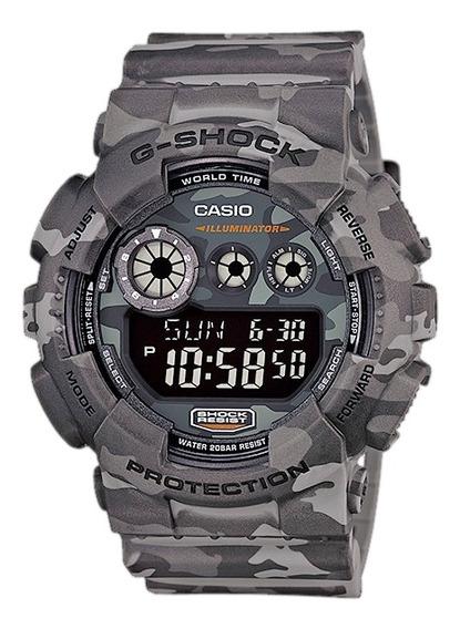 Relógio Casio G-shock Masculino Militar Cinza Gd-120cm-8dr